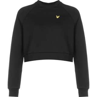 Lyle & Scott Cropped Sweatshirt Damen schwarz