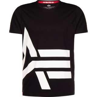 Alpha Industries Side Logo T-Shirt Herren schwarz
