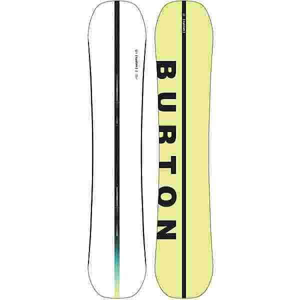 Burton Custom Wide All-Mountain Board Herren white-yellow