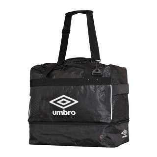 UMBRO Maxium Tasche Gr. M mit Bodenfach Kids Sporttasche Kinder schwarz