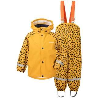 Didriksons SLASKEMAN PR SET 4 Regenanzug Kinder citrus yellow dots