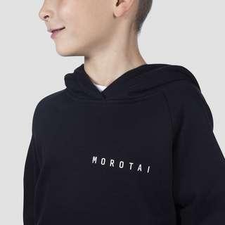 MOROTAI Kids Unisex Basic Sweat Hoodie Hoodie Kinder Schwarz