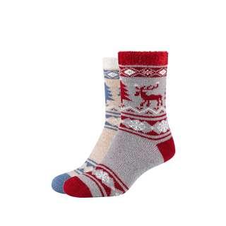 Camano Cosy Winter Sneakersocken light grey melange