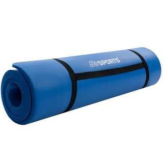 ScSPORTS Gymnastikmatte 190x80x1,5 dunkelblau Matte Blau