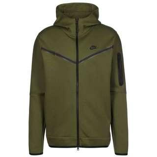 Nike Tech Fleece Sweatjacke Herren grün / schwarz
