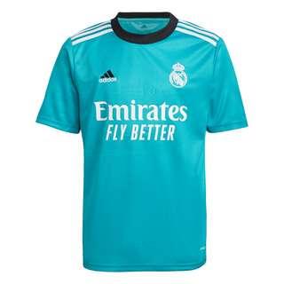 adidas Real Madrid 21/22 Ausweichtrikot Trikot Kinder Türkis