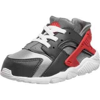 Nike Huarache Run Sneaker Kinder silber/schwarz/rot