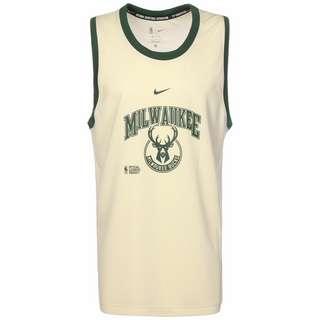 Nike NBA Milwaukee Bucks DNA 75 Trikot Herren beige / dunkelgrün