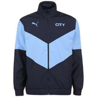 PUMA Manchester City Pre-Match Trainingsjacke Herren dunkelblau / hellblau