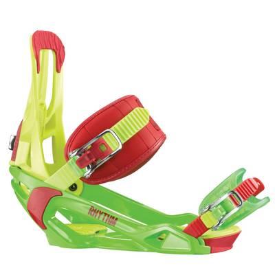 Salomon Rhythm Snowboardbindung gelb/grün/rot