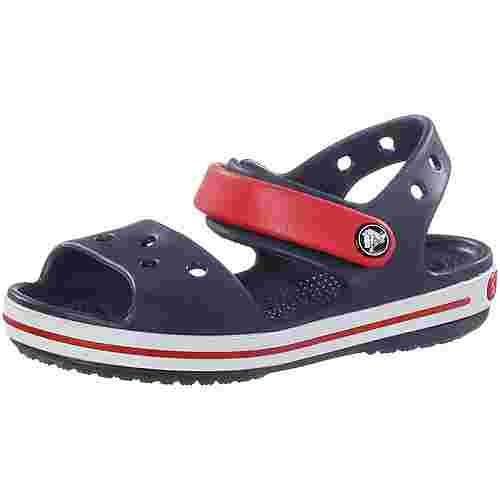 Crocs Crocband Sandalen Kinder navy/rot