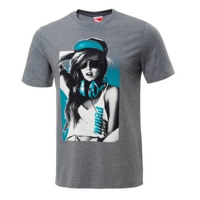 PUMA Cat Hardy Printshirt Herren graumelange