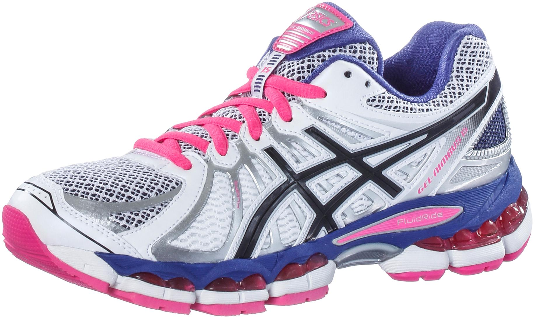 ASICS Gel Nimbus 15 W Laufschuhe Damen weiß/pink im Online Shop von SportScheck kaufen
