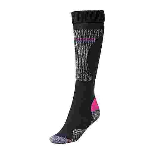 White Season Skisocken Damen schwarz/pink