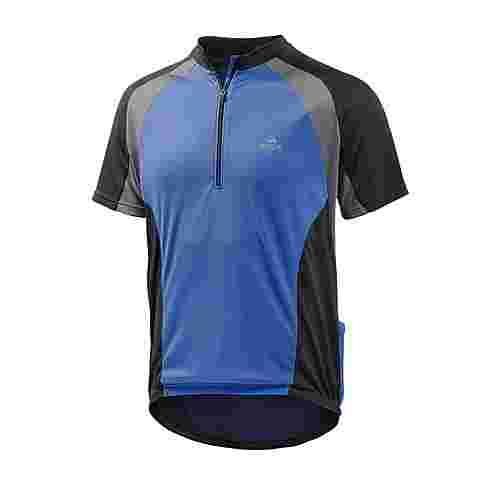 OCK Fahrradtrikot Herren blau/schwarz/grau