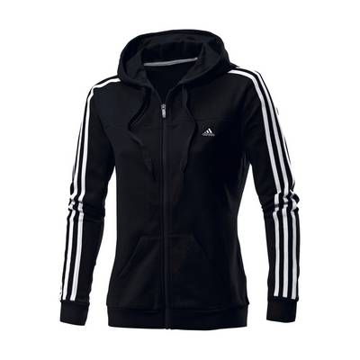 adidas sweatjacke damen schwarz wei im online shop von. Black Bedroom Furniture Sets. Home Design Ideas