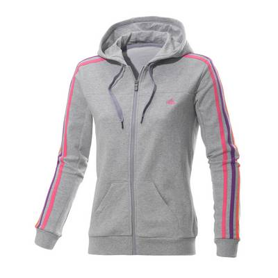 adidas sweatjacke damen graumelange pink im online shop. Black Bedroom Furniture Sets. Home Design Ideas