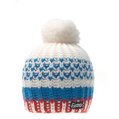 Eisbär Lesly Pompon Bommelmütze weiß/blau/rot