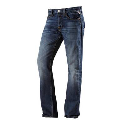 REPLAY Waitom Straight Fit Jeans Herren dark denim