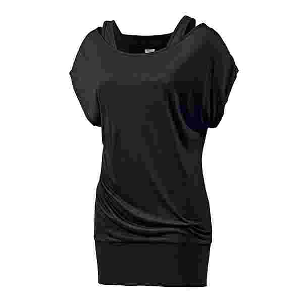 Bench Doubledup 2-in-1 Shirt Damen schwarz