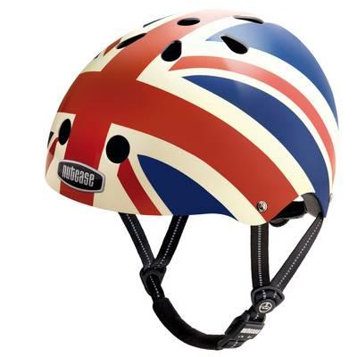 Nutcase Genereration Union Jack Fahrradhelm rot/weiß/blau