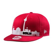 New Era 9fifty Berlin Skyline Cap rot/weiß