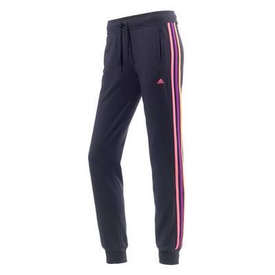 adidas Sweathose Damen schwarz/himbeer/orange