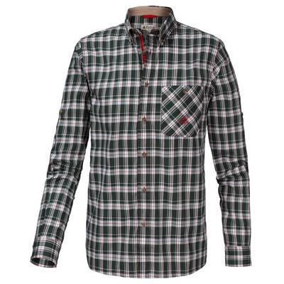 OCK Langarmhemd Herren dunkelgrün/rot