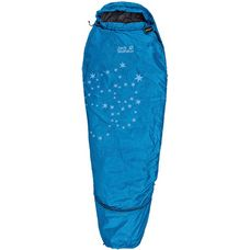 Jack Wolfskin Grow Up Star Kunstfaserschlafsack Kinder blau