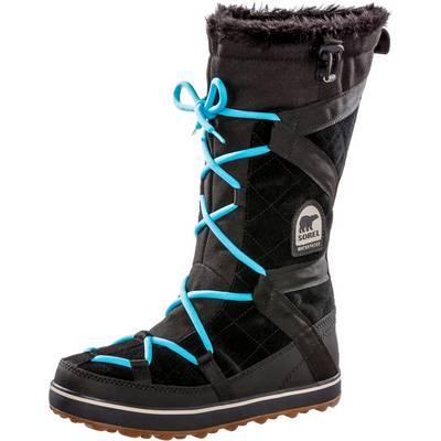 Sorel Glacy Explorer Stiefel Damen schwarz-türkis