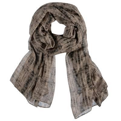 Kaffe Schal Damen beige/schwarz
