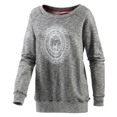 Alprausch Glitzerheidi Sweatshirt Damen graumelange