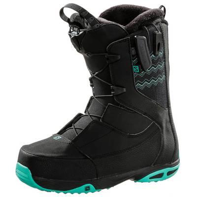 Salomon Ivy Snowboard Boots Damen schwarz/türkis