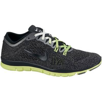 Nike Free 5.0 Trainer Fit 4 Fitnessschuhe Damen schwarz/neongelb