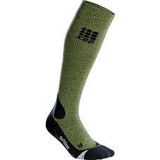 CEP Outdoor Merino Kompressionsstrümpfe Damen grün/schwarz