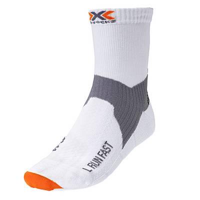 X-SOCKS Run Fast Kompressionsstrümpfe Herren white