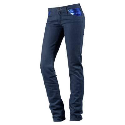 Lee Scarlett Skinny Fit Jeans Damen blue denim