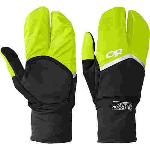 Outdoor Research Hot Pursuit Convertible Running Outdoorhandschuhe schwarz/grün