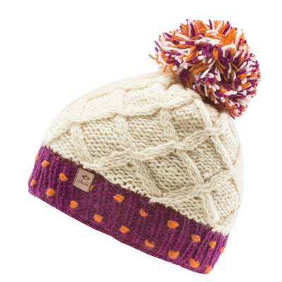 Chillouts Philipp Beanie weiß/pink