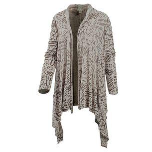 Billabong Seaside Dreamz Strickjacke Damen grau/schwarz