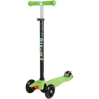 Micro maxi mit T-Lenker Kickboard Kinder grün/schwarz