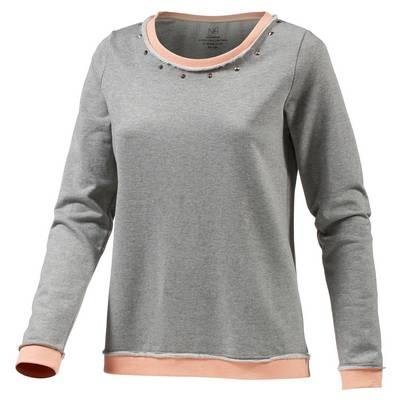Neighborhood Sweatshirt Damen Hellgrau Melange