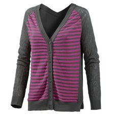 Maui Wowie Strickjacke Damen grau/pink
