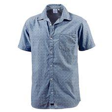 WLD New morning Kurzarmhemd Herren blau/punkte