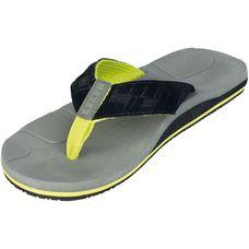 ION Textil Zehensandale Beach Sandal Zehensandalen grau/schwarz/gelb