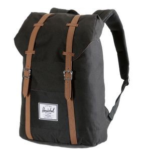 Herschel Retreat Daypack black-tan synthetic leather