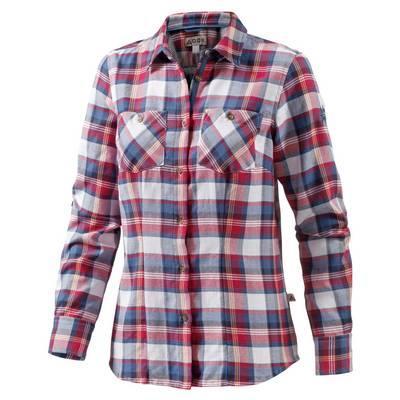 OCK Ladies Cotton Flanel shirt Langarmbluse Damen rot