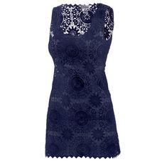LingaDore Croched Dress Kurzarmkleid Damen dunkelblau