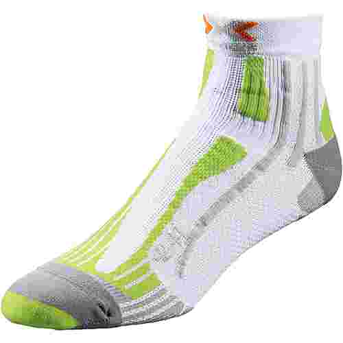 X-SOCKS Speed Two Laufsocken Herren white-green-lime