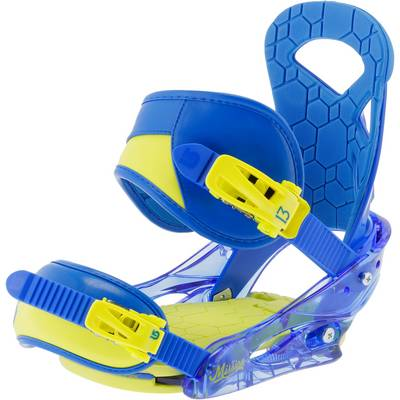 Burton Mission smalls ReFlex Snowboardbindung blau/gelb